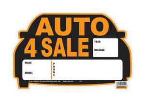 Hy-Ko  English  8.5 in. H x 13 in. W Sign  Auto for Sale  Polyethylene