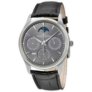 Jaeger LeCoultre Master Ultra Thin Perpetual Automatic Silver Dial Men's Watch