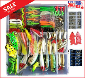 Topconcpt 275pcs Freshwater Fishing Lures Kit Tackle Box with Tackle...