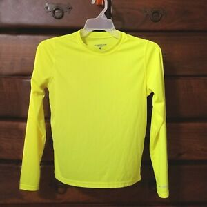 Brooks Equilibrium Womens Yellow Running Active Wear Mesh Long Sleeve Shirt Med
