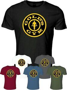 Golds Gym T Shirt Tee Workout Fitness Training Bodybuilding MMA UFC Clothing $18.36