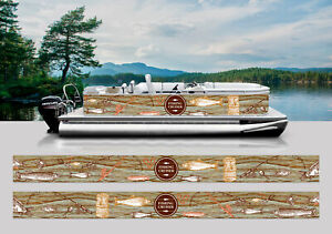 WRAPPING PONTOON REPLACEMENT GRAPHICS KIT DECAL STICKERS BOATS FISHING ROD LAKE