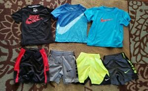 Lot Of 7 Under Armour Nike Toddler Boys Size 2T 3T Shorts Shirts