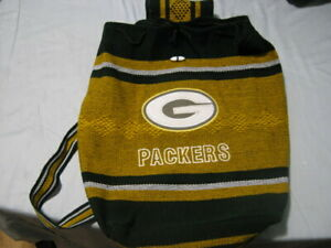 BACKPACK PACKERS Green Bay Football Mexican Woven Tote Handmade Bag
