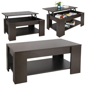 Coffee Table Lift Top w/Hidden Compartment Storage Shelf Modern Home Furniture