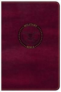 CSB Military Bible, Burgundy Leathertouch by Csb Bibles by Holman (English) Imit