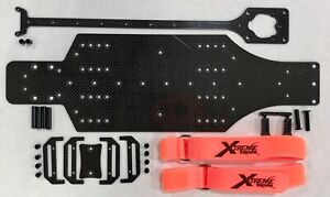 XTREME RACING TRAXXAS RUSTLER / SLASH CARBON FIBER SPEED CHASSIS DRAG RACING RTR