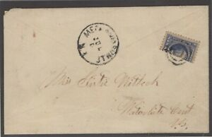 #115b 1869 6c Ultramarine Vertical Bisect SEE DETAILS  (GP2 7/19/19)