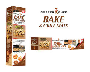 Copper Chef  As Seen On TV  Copper  GrillBake Mat  2 pk
