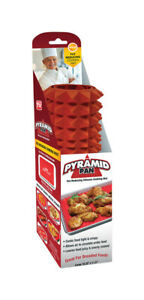 Pyramid Pan  As Seen On TV  11.5 in. W x 16.25 in. L Baking Mat  Red
