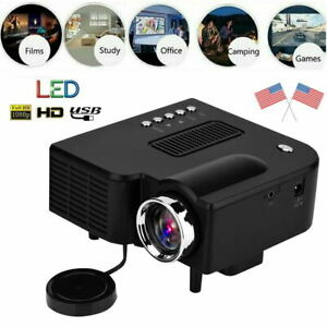 U28 Mini Portable Multimedia LED LCD Projector Full HD 1080P Home Theater USB