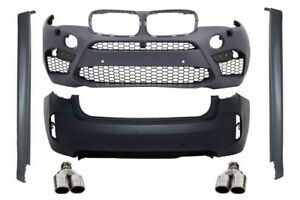 Complete Body Kit  For  BMW X6M F16 15+ M Design Sport Bumper Exhaust Grilles PD