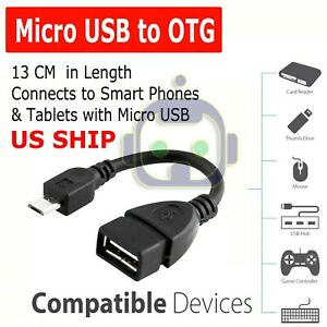 Durable Micro USB OTG Host Cable Adapter Male to 2.0 Female For Android Tablets