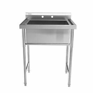 30quot; Stainless Steel Utility Commercial Square Kitchen Sink for Washing Room New