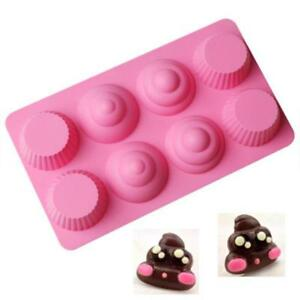 Silicone Poop Cake Chocolate Biscuit Mold Party Cake Bakings Decors Mould LI
