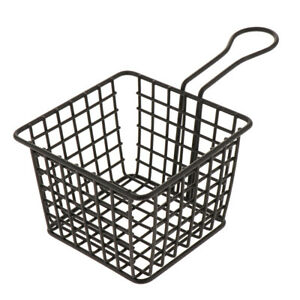 Kitchen Tool Metal Mesh Fry Basket Strainer Serving Food Presentation Sifter