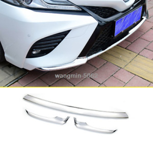ABS Chromed Front Bumper Protection Cover Trim For Toyota Camry 2018 2019 SE/XSE