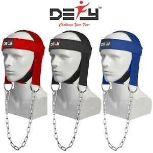 DEFY NEW NYLON WEIGHT LIFTING HEAD HARNESS NECK STRENGTH GYM FIT EXERCISE PADDED $12.99