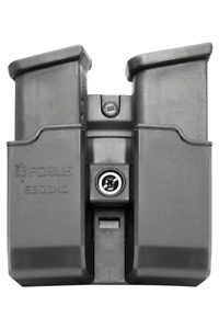 Fobus 6900NDBH Black Polymer Speed Side Double Mag Pouch for Glock 9/40