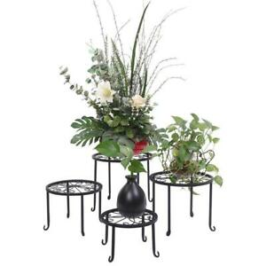 4pcs Metal Outdoor Indoor Pot Plant Stand Garden Decor Flower Rack Wrought Iron $29.29