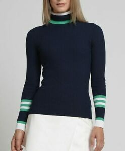 Movetes Women's Trajectory T-Neck Turtleneck Golf Sweater - Navy - Select Size!