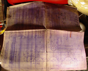 Vintage Owens-Illinois Iron Drawing  blueprint for making glass bottle mold plan