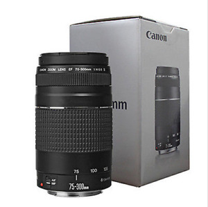 Canon EF 75-300mm f4-5.6 III Autofocus Lens for EOS T6 T6s T6i T5 T5i  USA NEW