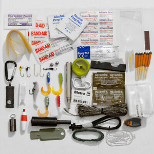 Emergency Survival Kit Wilderness Camping Hiking First Aid Outdoor Prepper Gear
