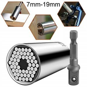Universal Socket Multi Tool Ratchet Wrench Power Drill Magical Plug Grip Adapter