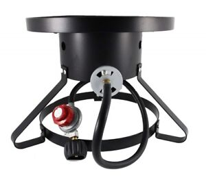 Outdoor Cooking Gas Single Propane Stove Camping Burner for Turkey Fryer W/Hose