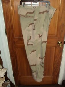 U S MILITARY CAMOUFLAGE PANTS MEN LARGE LONG  DESERT 6 POCKET BDU