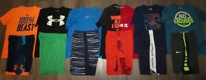 Lot 13 Boy's UNDER ARMOUR NIKE Dri-Fit T-Shirts Athletic Shorts YLG Large 1416