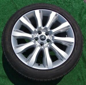Factory Range Rover Wheels Tires Set 4 Perfect Genuine OEM Design 5 Land 21 inch
