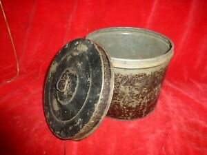 VERY RARE CIVIL WAR ERA SOLDIER'S TIN HARDTACK CONTAINER / JAPANNED TIN FINISH