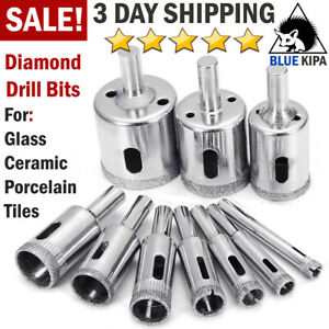 Diamond Drill Bits for Glass Ceramic Tile Porcelain Hole Saw Cutting 10 Bit Set