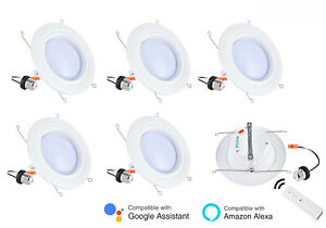 SMART WIFI APP 10W LED Dimmable Recessed Ceiling Panel Down Lights Lamp Fixture