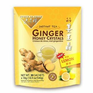 Ginger Honey Crystals with Lemon Instant Tea Prince Of Peace 30 Sachets Box