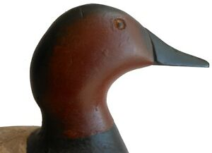 Early 1900 Antique Folk Art Hand Carved Wood working Duck Decoy Mason Canvasback