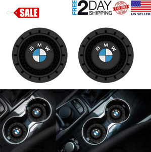BMW Accessories Car Logo Round Can Cup Holder Insert Coaster Universal New