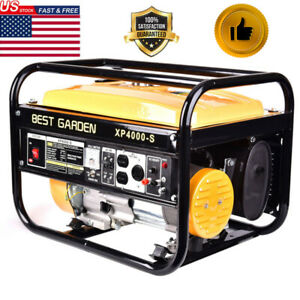 Home 4000W 7.5HP 120V Portable Emergency Gas Generator Engine Recoil Start US
