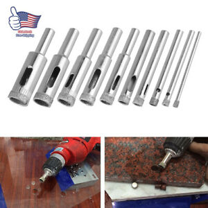 10X 3-13mm Diamond Drill Bits for Glass Ceramic Tile Porcelain Hole Saw Cutting