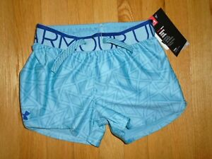 Under Armour Girls Shorts Elastic Waist Blue Loose Fit YXS 6 NWT