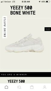 Adidas Yeezy 500 Bone White Size 9.5 ORDER CONFIRMED!