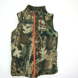 Columbia Camo Reversible Camouflage Hunting Fishing Vest KidsYouth Large 1416
