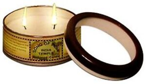 India Temple Double Wick Candle - Song of India Candle (New Fresh Indian Temple)