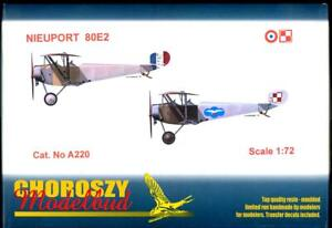 Choroszy Models 1 72 NIEUPORT 80E2 Fighter French & Polish Versions