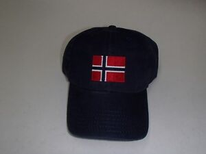 Norwegian Norway Flag Baseball Hat Cap Embroidered Navy Cotton #CP073