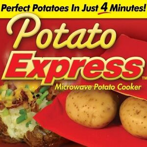 Potato Cooker Bag Express Microwave Cook 2 Pack Reusable Corns Bake Pouch Baker