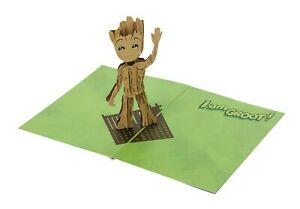 NEW GUARDIANS OF THE GALAXY GROOT 3D POP UP CARD MARVEL #saug19-314