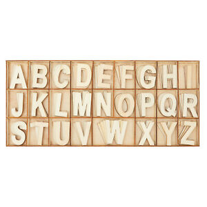 104 Piece Set Wooden Letters with Storage Tray 4 Piece Each Letter Natural $11.99